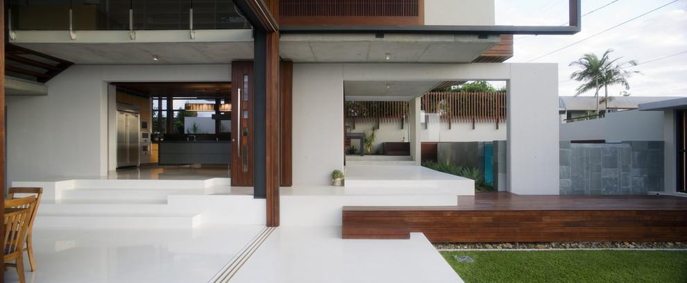 Trendy exterior home photo in Brisbane