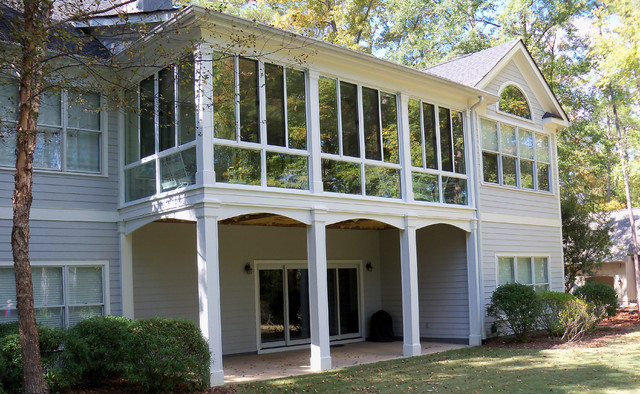 Patio Enclosures Second Story Sunroom Traditional
