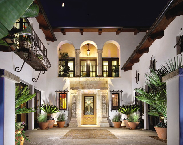 Lovely Patio Layout Showcasing Our Unique Stone Elements In Architectural  Settings. Mediterranean Exterior