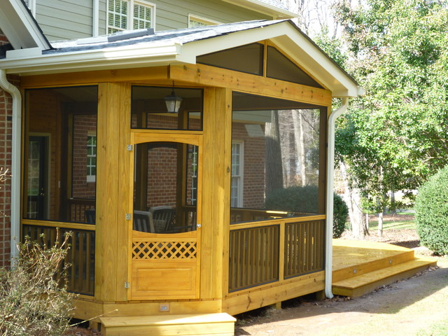 Patio with Deck traditional-exterior