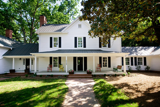 Paul Green Historic HomeChapel Hill NCVacant Home Staging Farmhouse Exterior Raleigh