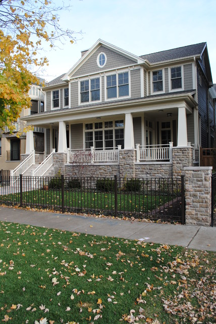 Paulina private residence chicago craftsman exterior for Craftsman style architects
