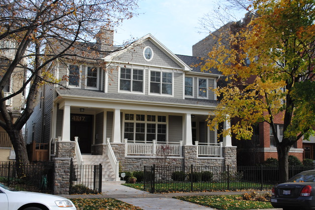 Paulina Private Residence Chicago Craftsman Exterior Chicago By Cook Architectural