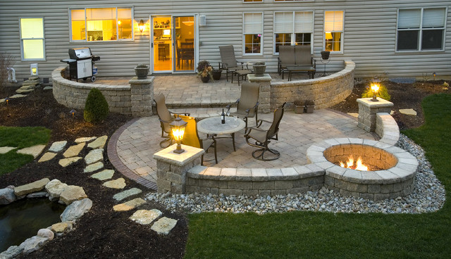 paver patio - contemporary - exterior - cincinnati - by ... - Pavers Patio Ideas
