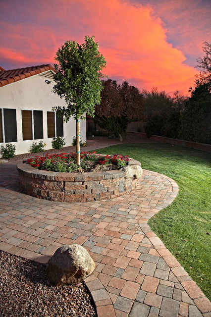 Pavers Traditional Exterior Phoenix By Cyc Landscaping