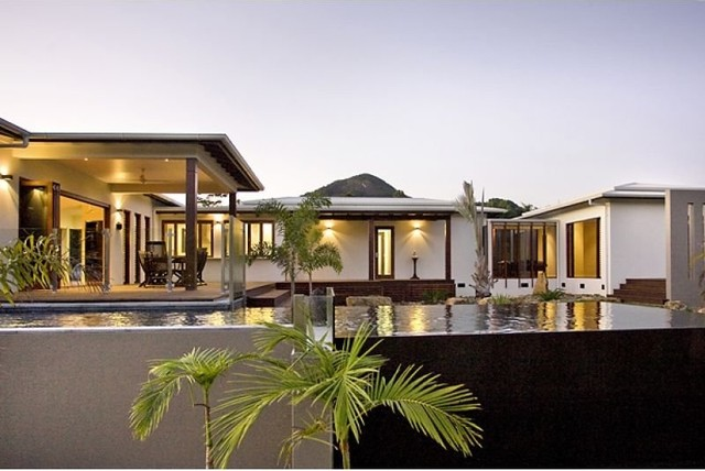 Pavilion house asian exterior brisbane by skale Pavilion style house plans