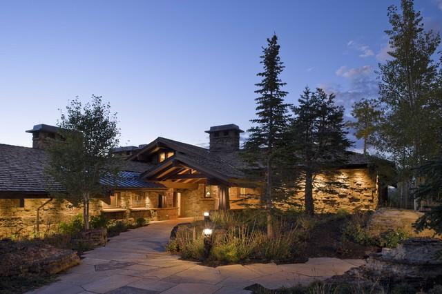 Peaked Roof rustic-exterior