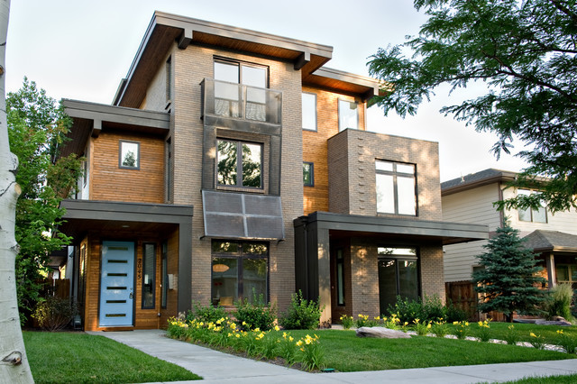 Pearl street duplex residence contemporary exterior for Modern homes llc