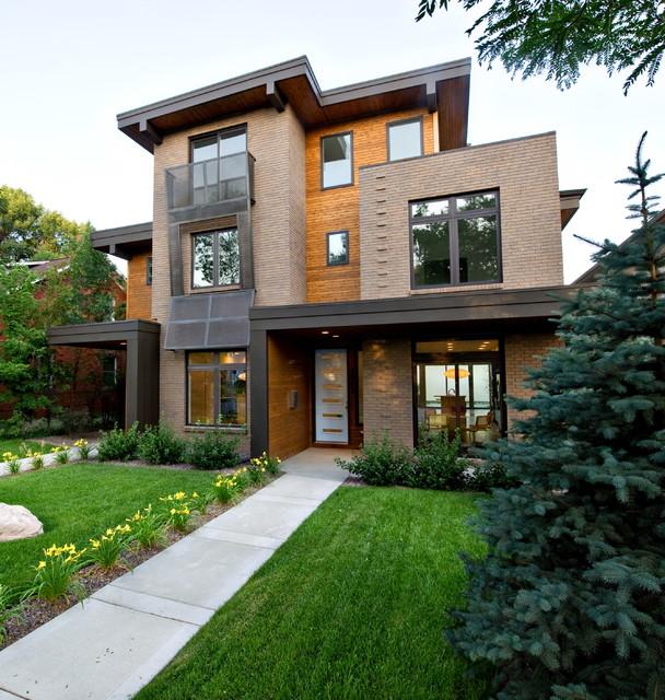 Pearl street duplex residence modern exterior denver Modern houses denver
