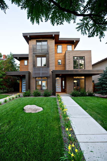 Pearl Street Duplex Residence Modern Exterior Denver By Bcdc B Costello Design