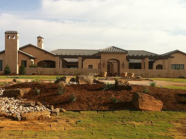 Peaster ranch house mediterranean exterior dallas Mediterranean ranch