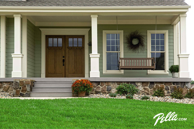 pella architect series craftsman collection wood entry door adds