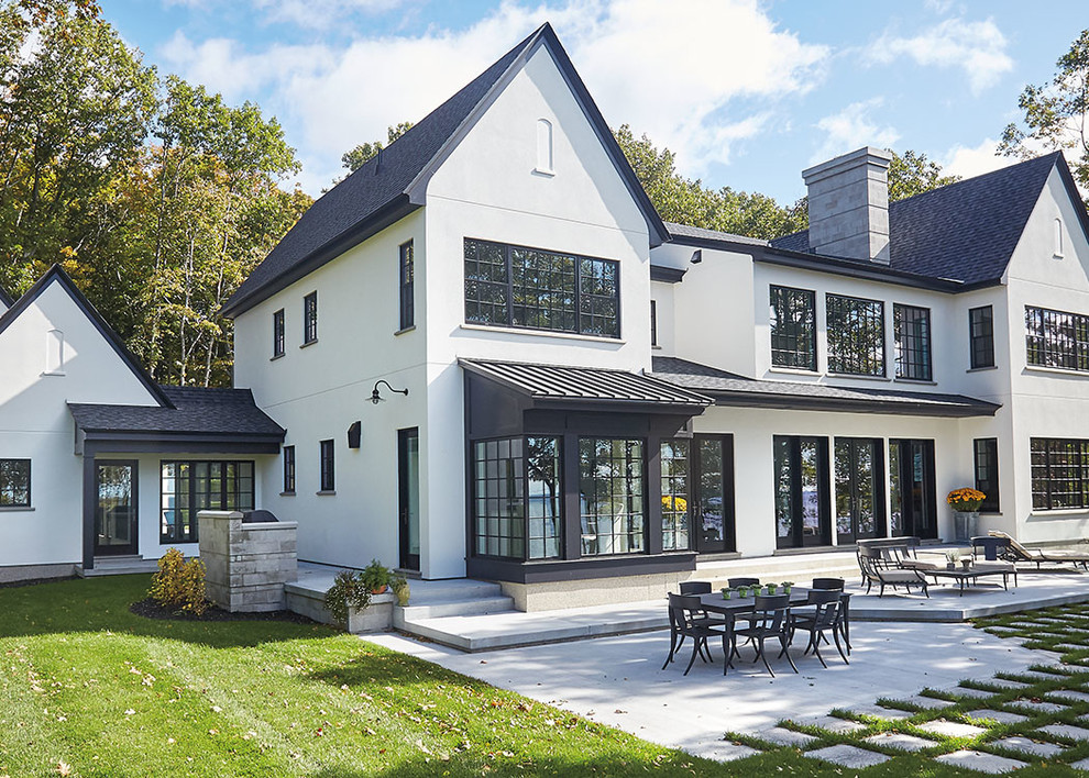 Inspiration for a transitional exterior home remodel in Other