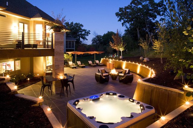 Perfect Outdoor Entertainment! - modern - exterior - minneapolis
