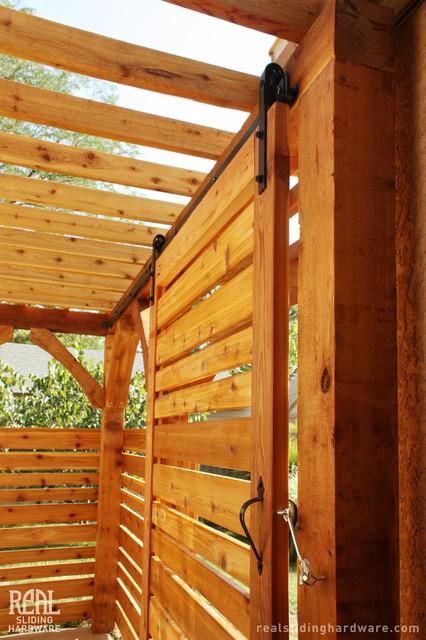 pergola barn doors traditional exterior houston by