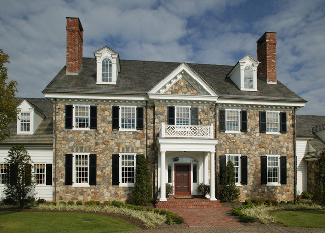 Period Colonial Home Exterior Philadelphia By Dewson: colonial home builders