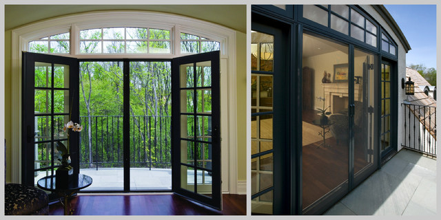 Phantom retractable screen doors transitional exterior for Phantom sliding screen doors