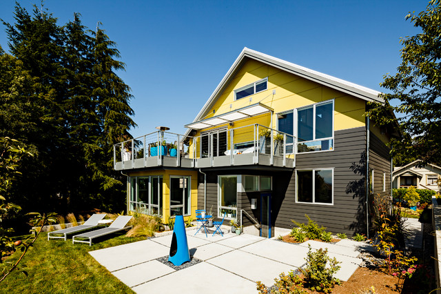 Contemporary Exterior by Portal Design Inc