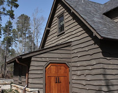 Old World Lakehouse rustic exterior