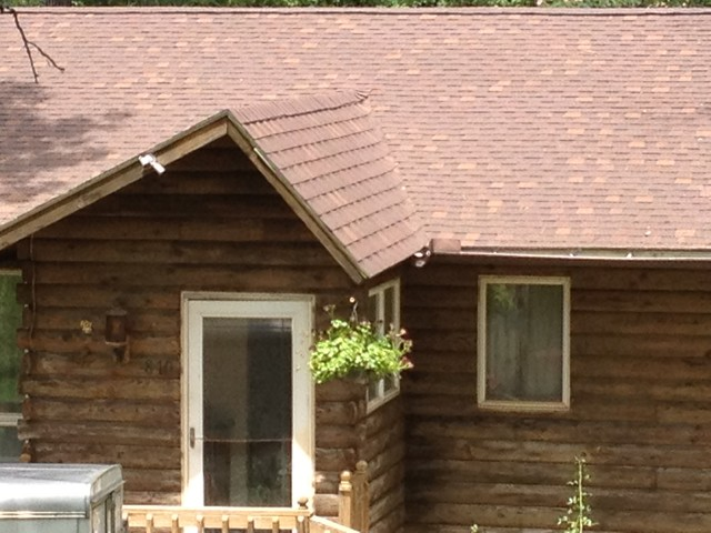 Pine log siding restoration E log siding