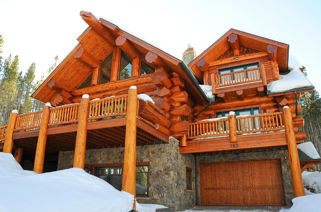 pioneer log homes of b c breckenridge rustic exterior denver by mountain log homes of. Black Bedroom Furniture Sets. Home Design Ideas