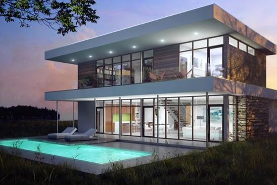 Plan 491-3 by Braxton Werner & Paul Field modern-exterior