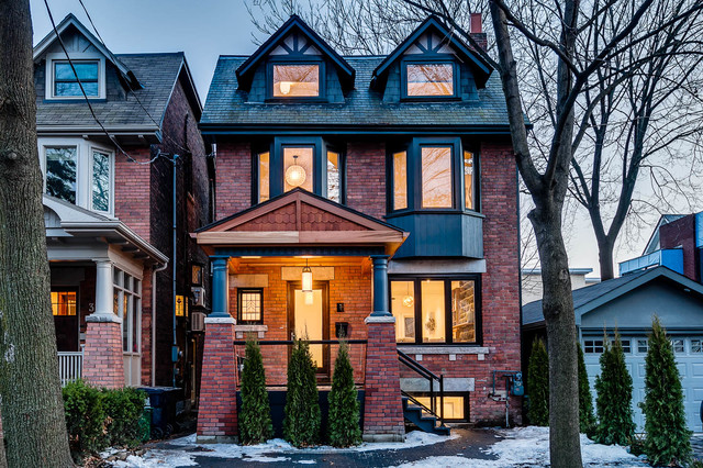Playter Estates Renovation Traditional Exterior Toronto By Re Placement Design