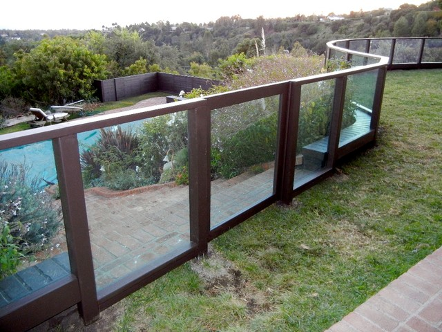 Plexiglass Fence Clear Modern Exterior Los Angeles