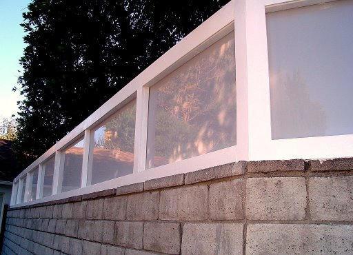 Plexiglass Fences modern-landscape