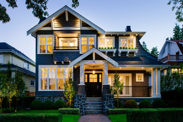 Point grey craftsman craftsman exterior vancouver by rockridge fine homes - Craftsman home exterior ...