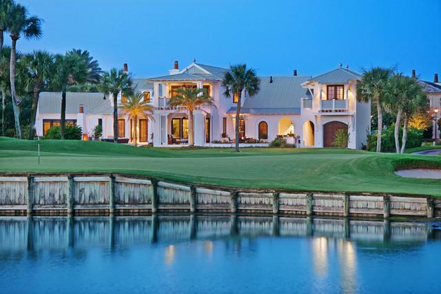 Ponte vedra beach golf course home tropical exterior for Interior decorators ponte vedra beach