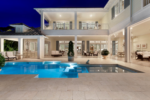 Pool Area - Tropical - Exterior - Miami - by Weber Design Group, Inc.