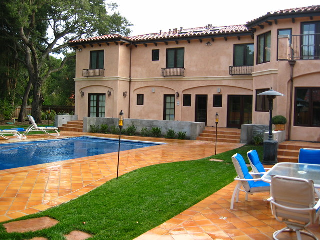 Pool coping patio east facing mediterranean for Verdance landscape design