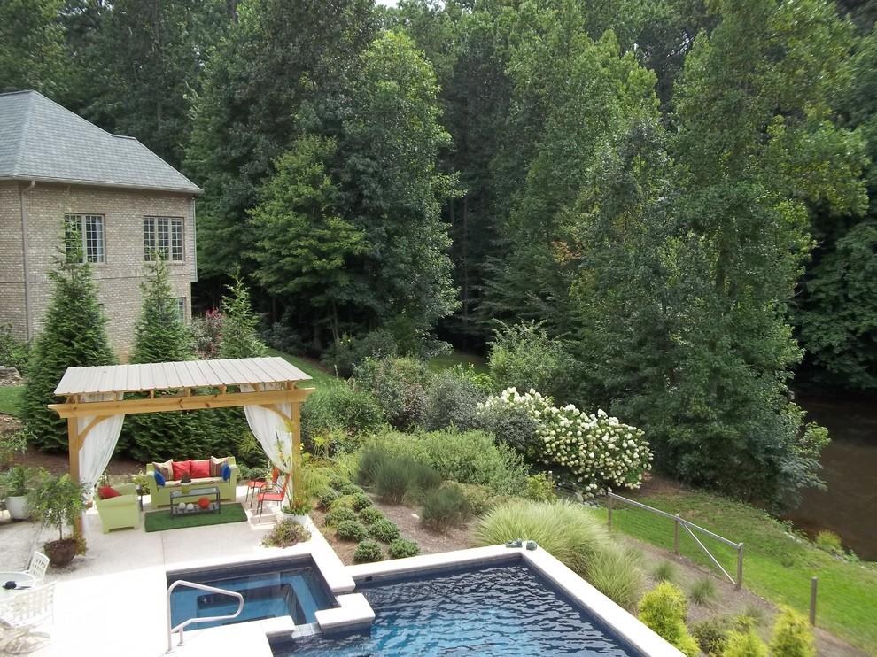 Pool Pergola Greensboro NC - Traditional - Exterior ...