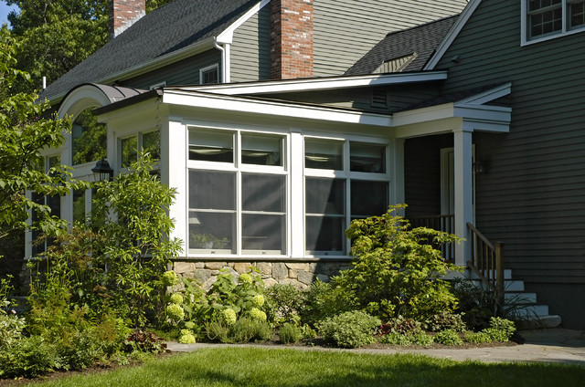 Porch becomes a Garden Room traditional exterior