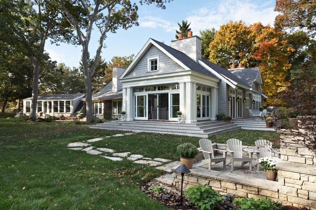 Porch facade after renovation traditional exterior for House facade renovation ideas