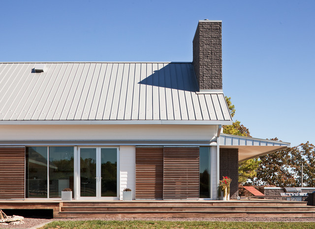 Porch House modern-exterior