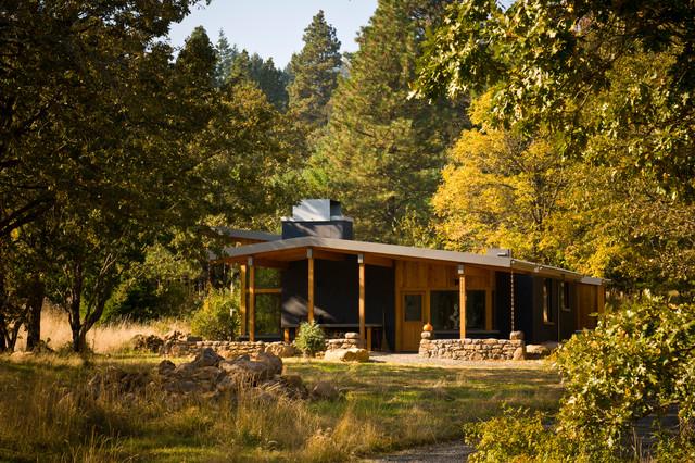 Porch in Summer contemporary-exterior