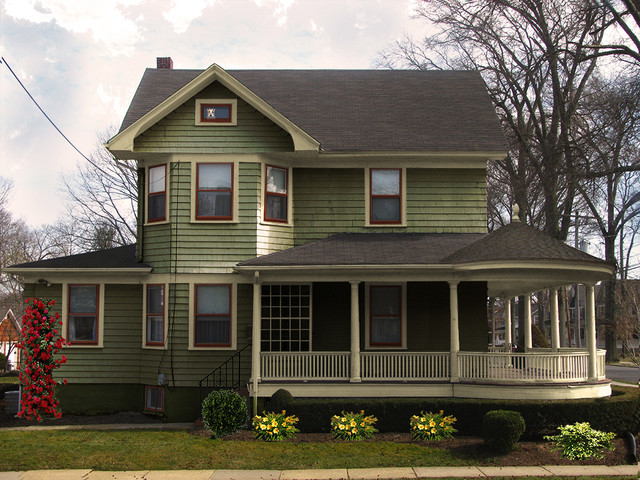 Porch roof design traditional exterior new york by old house guy llc for Historic house colors exterior