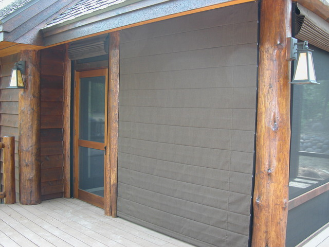 Porch Shades Block Wind Traditional Exterior Other