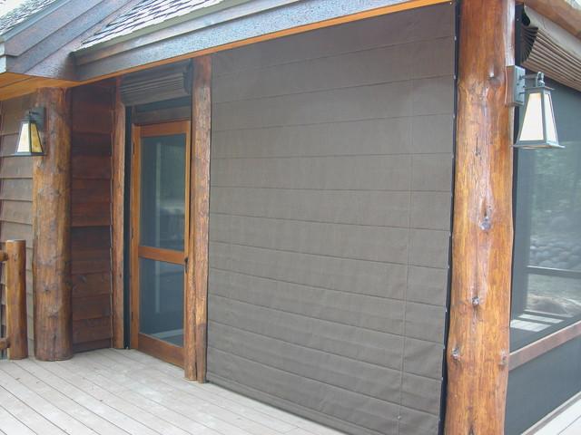 Porch Shades Block Windtraditional Exterior Minneapolis