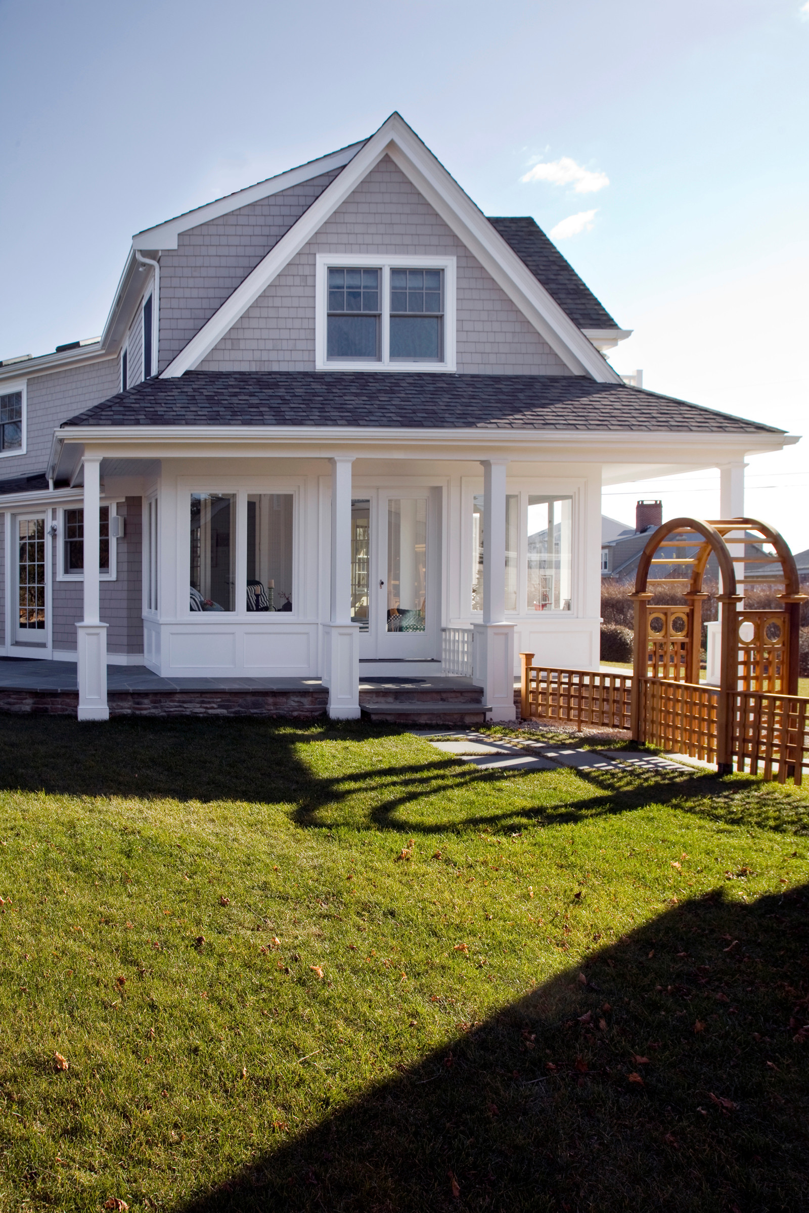 Porch side looking at sunroom