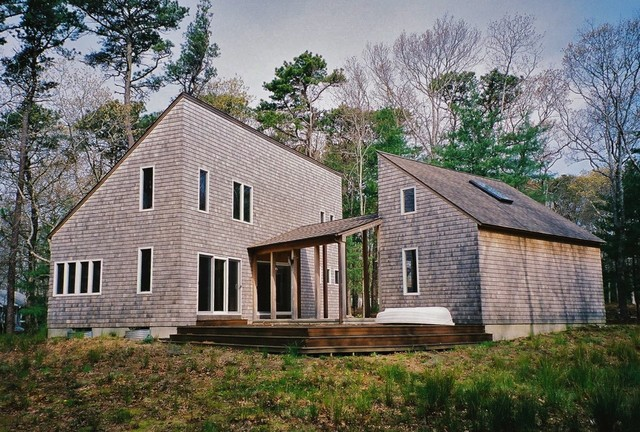 Portanimicut house modern exterior boston by for Modern cape cod house