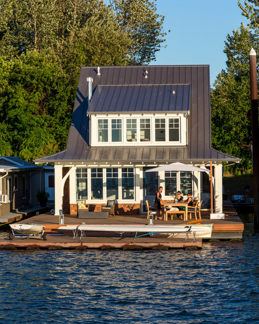 Portland floating home beach style exterior seattle Floating homes portland
