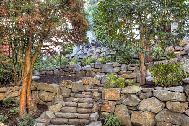 Portland landscaping overlook traditional exterior for Paradise restored landscaping exterior design