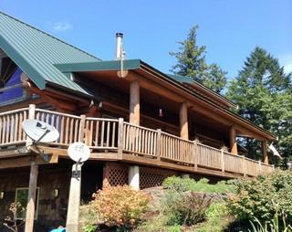 Portland Log Home Refinish - Before - Rustic - Exterior ...