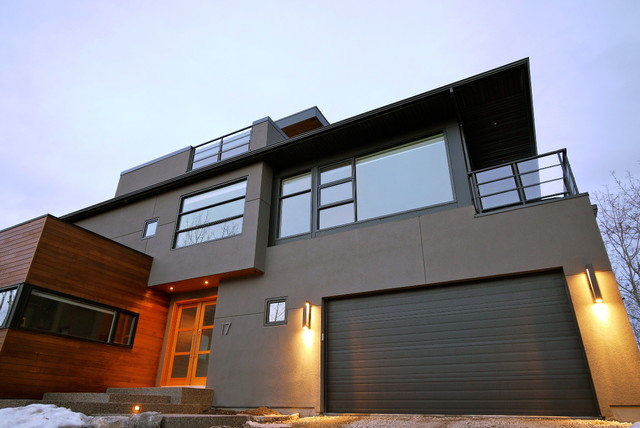 Post Hill House - Modern - Exterior - Calgary - by Alloy Homes ...