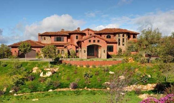 Poway Tuscan Estate mediterranean-exterior