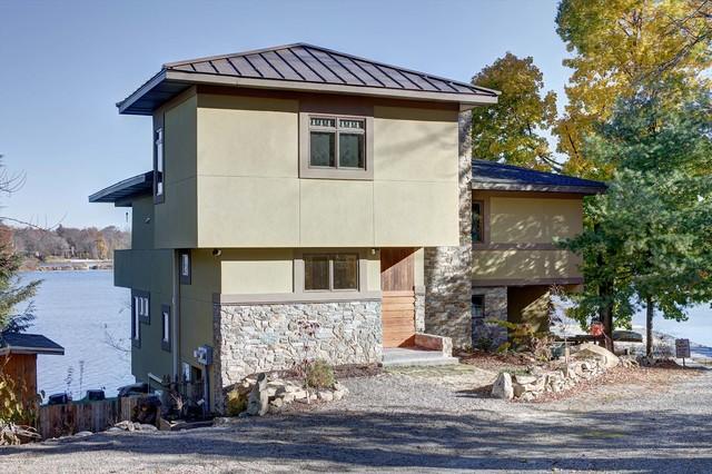 Prairie Style Lake House 2014 2016 Exterior New York By Highland Architectural Design Llc