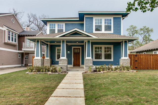 Prairie style new construction for Craftsman style homes for sale dallas tx